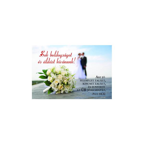 Esküvői minikártya – Aki jó feleséget talált