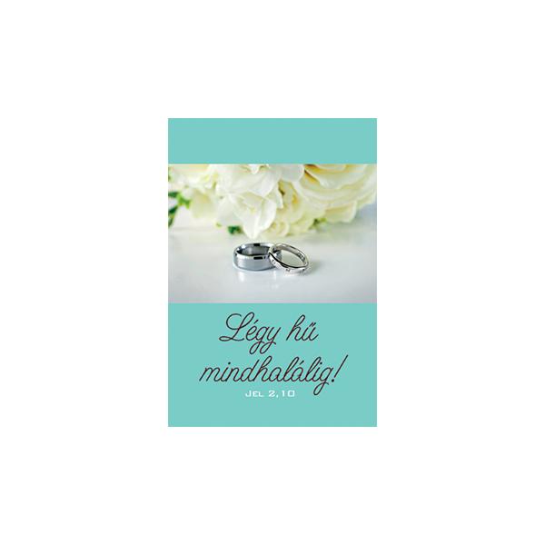 Esküvői igés kártya - Légy hű mindhalálig