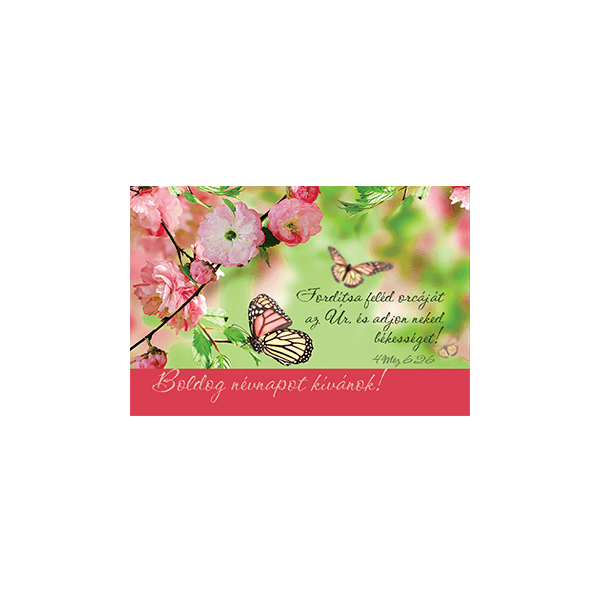 Minikártya – Fordítsa feléd orcáját (névnap)