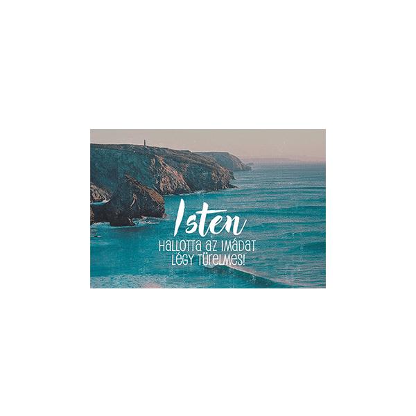 Minikártya – Isten hallotta az imádat