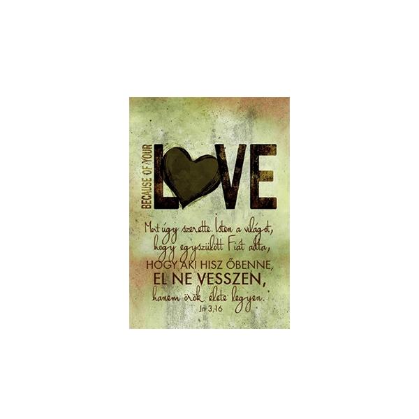Minikártya – Mert úgy szerette Isten (love)