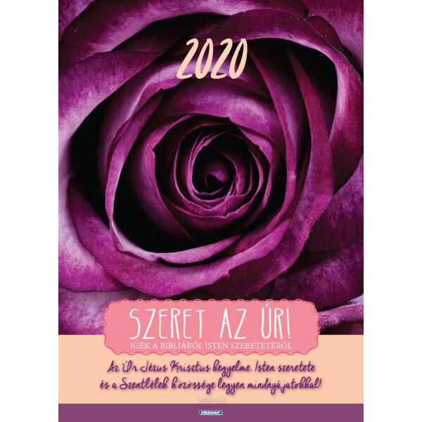 Nagyméretű falinaptár 2020 – Szeret az Úr!