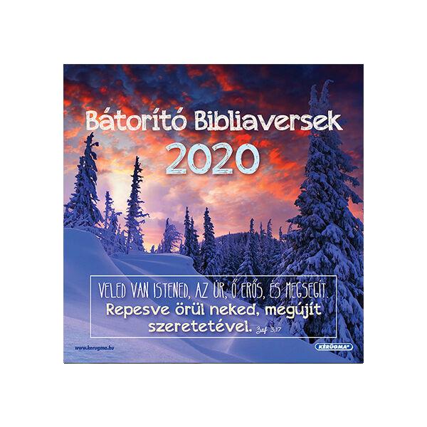 Négyzetes falinaptár 2020 – Bátorító Bibliaversek