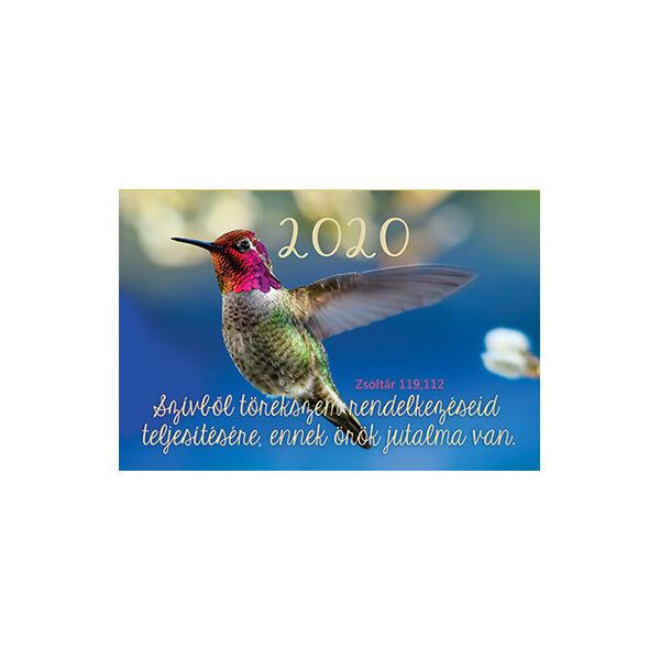 Kártyanaptár 2020 – Szívből törekszem