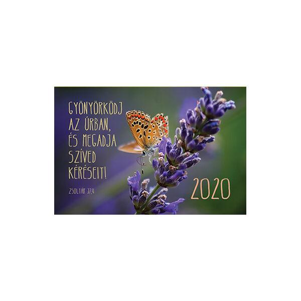 Kártyanaptár 2020 – Gyönyörködj az Úrban