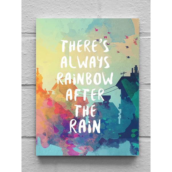 Vászonkép - There's always rainbow (25 x 35 cm)
