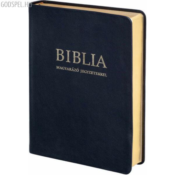 Biblia - revideált új fordítás, magyarázó jegyzetekkel, bőrkötés, aranymetszés