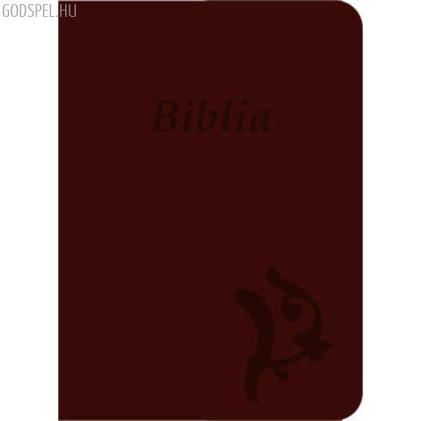 Biblia - új Károli, bordó, varrott, nagy