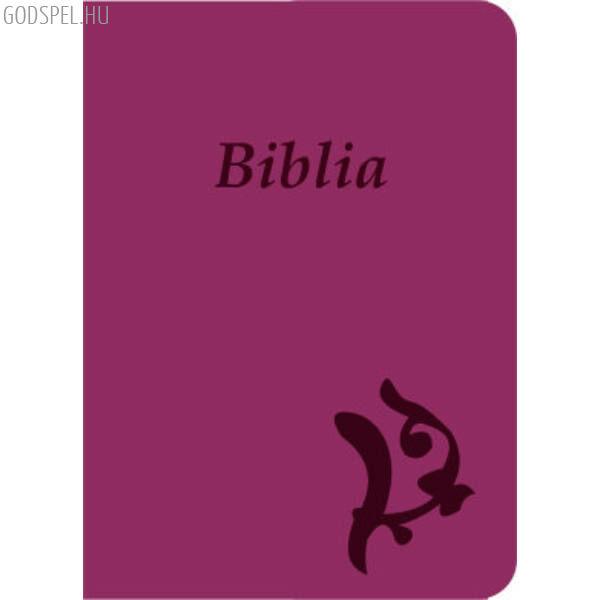 Biblia – új Károli, lila, varrott, nagy