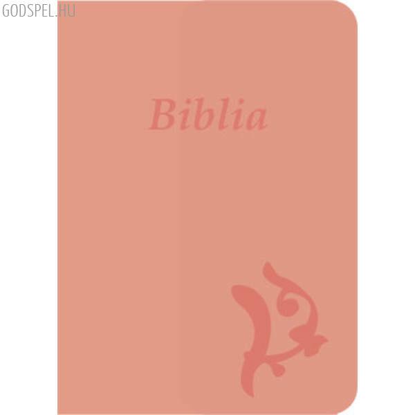 Biblia - új Károli, rózsaszín, varrott, nagy