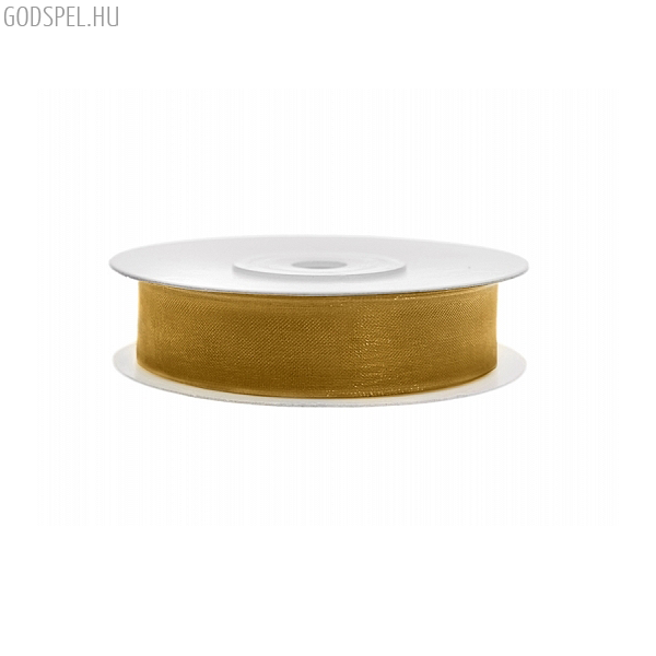 Organza szalag (12 mm x 25 m) – arany