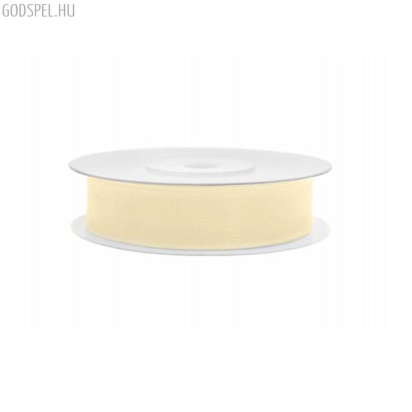 Organza szalag (12 mm x 25 m) – krém