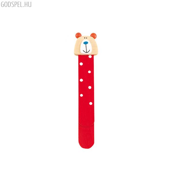 Állatos fa könyvjelző - piros