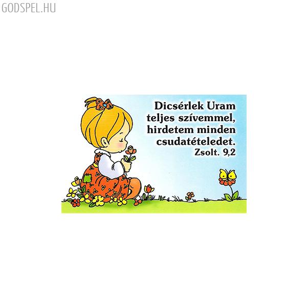 Igés kártya gyerekeknek – Dicsérlek Uram