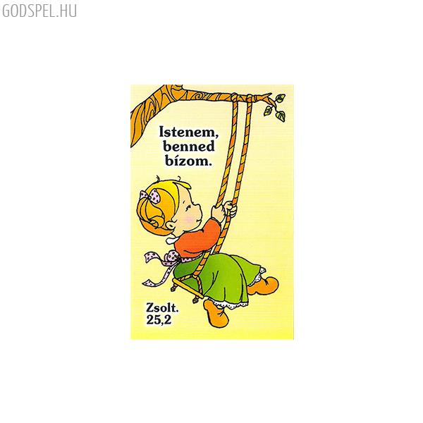 Igés kártya gyerekeknek – Istenem, benned bízom