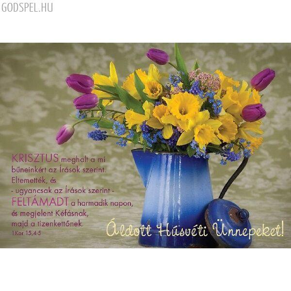 Húsvéti képeslap – Krisztus meghalt a mi bűneinkért