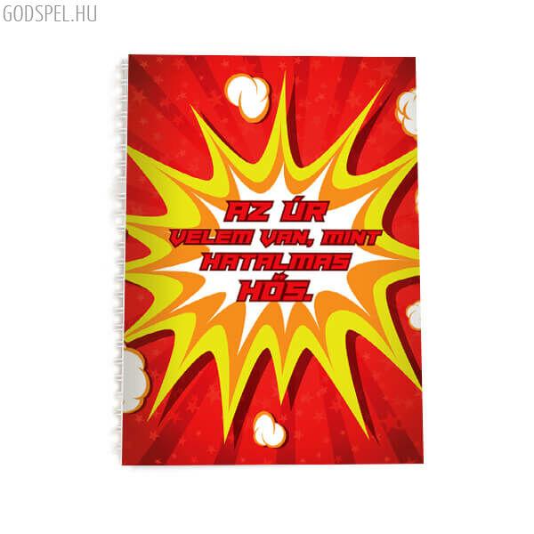 Spirál jegyzetfüzet A5 - Az Úr velem van