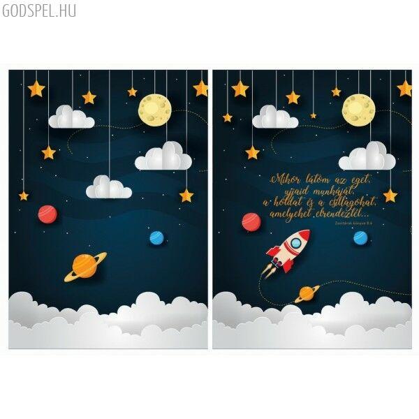 Spirál jegyzetfüzet A5 – Mikor látom az eget