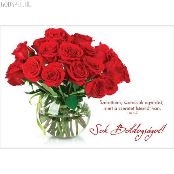 Esküvői képeslap – Szeretteim szeressük egymást