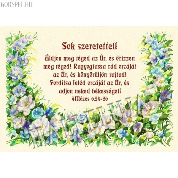 Igés borítékos képeslap – Áldjon meg téged az Úr (fekvő)