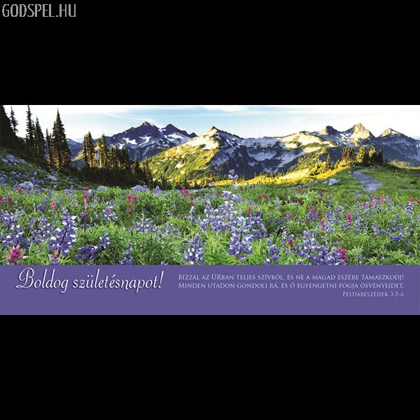 Igés borítékos képeslap - Bízzál az Úrban (születésnap)