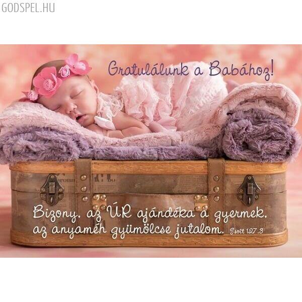 Igés képeslap – Gratulálunk a babához!