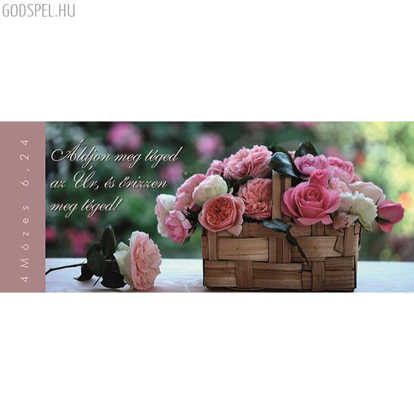 Igés könyvjelző – Áldjon meg téged az Úr (fekvő)