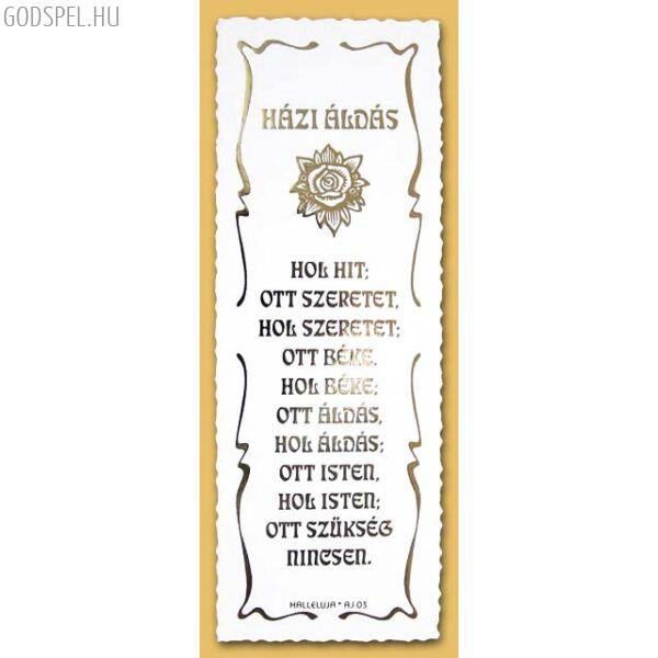 Igés könyvjelző (cakkos) – Házi áldás