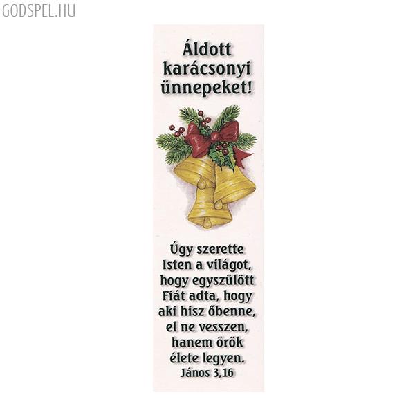 Karácsonyi könyvjelző – Úgy szerette Isten a világot