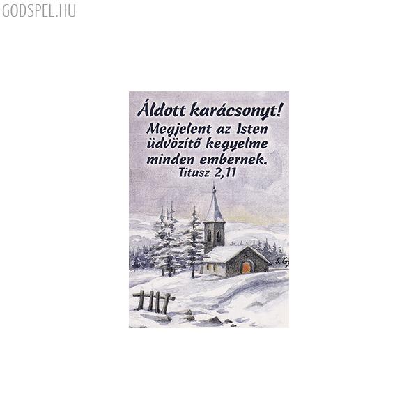 Karácsonyi igés kártya - Megjelent az Isten üdvözítő kegyelme