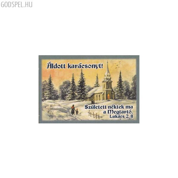 Karácsonyi minikártya – Született néktek ma a Megtartó