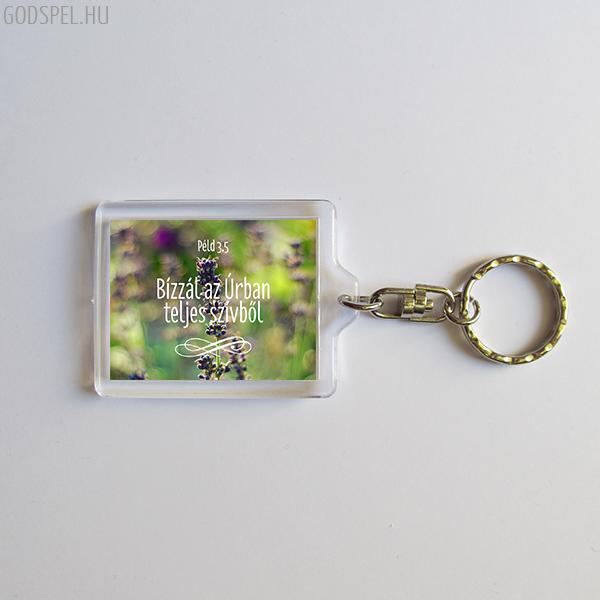 Igés kulcstartó - Bízzál az Úrban