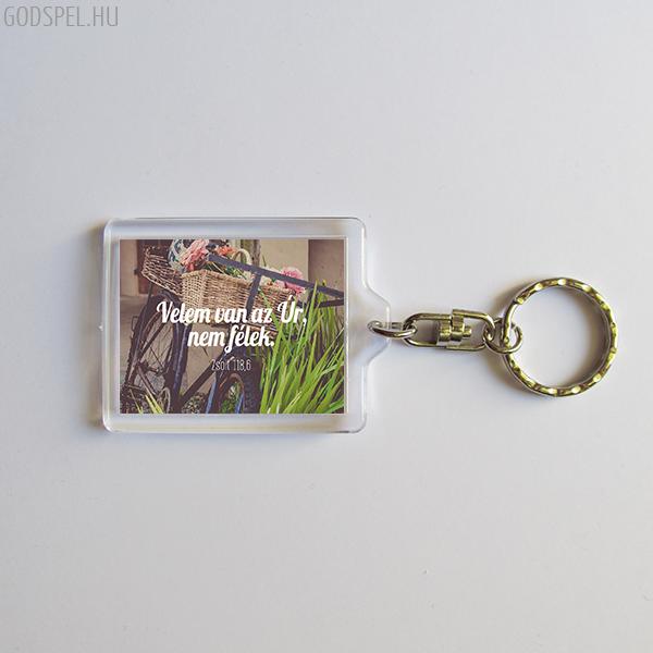 Igés kulcstartó - Velem van az Úr