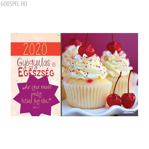 Kisméretű asztali naptár 2020 – Gyógyulás és egészség