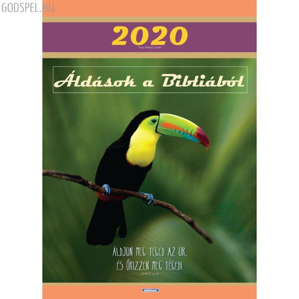 Nagyméretű falinaptár 2020 – Áldások a Bibliából