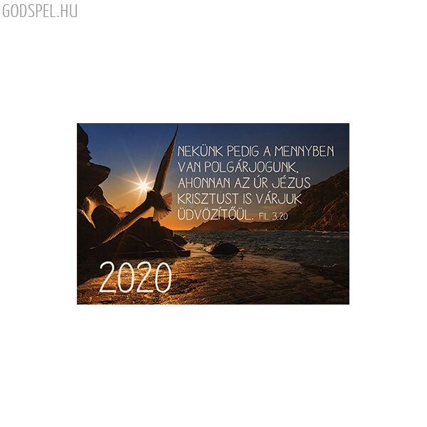 Kártyanaptár 2020 – A mennyben van polgárjogunk