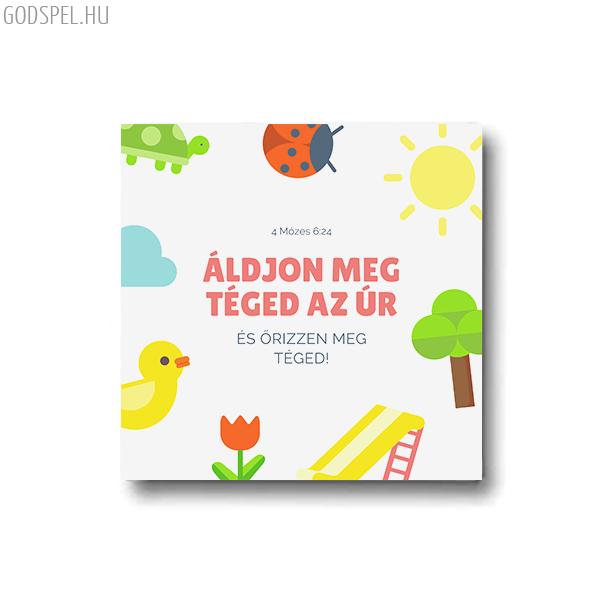 Vászonkép – Áldjon meg téged az Úr (játszótér) (25 x 25 cm)